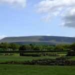 Pendle Hill from Sawley Abbey